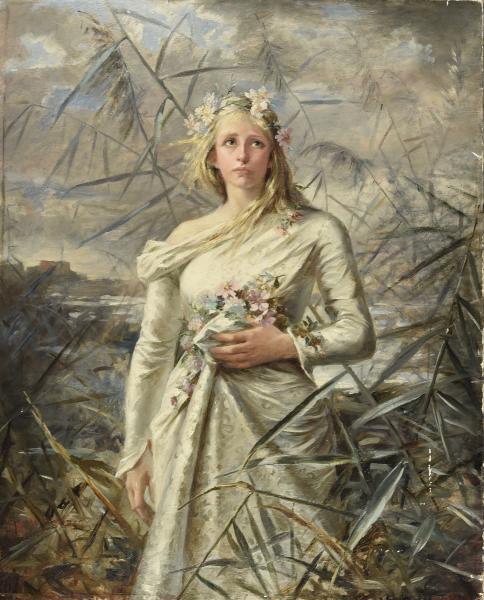 Anne Marie ESPRIT (1866-1926)  - La communiante  - Huile sur toile, signée en bas à[...]