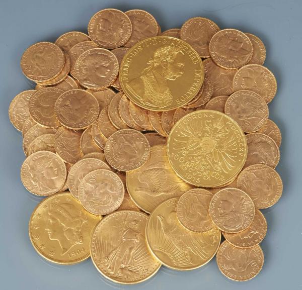LOT de 149 pièces en or de 20 francs, toutes de l'Epoque NAPOLEON III -