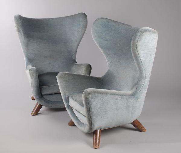 jean roy re exceptionnelle paire de fauteuils el phanteau luxe design vintage guillaumot. Black Bedroom Furniture Sets. Home Design Ideas