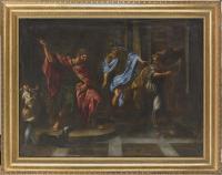 Giacomo ZOBOLI (Modène 1681 – Rome 1767) - David joue de la harpe..