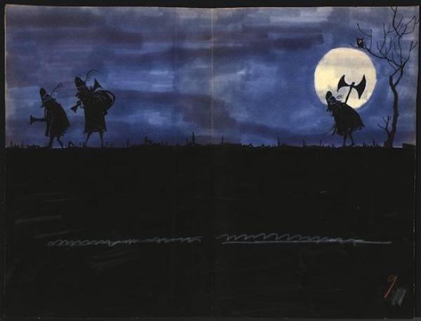UNGERER Tomi  - The Three Robbers  - Maquette de l'ouvrage Les trois brigands en[...]