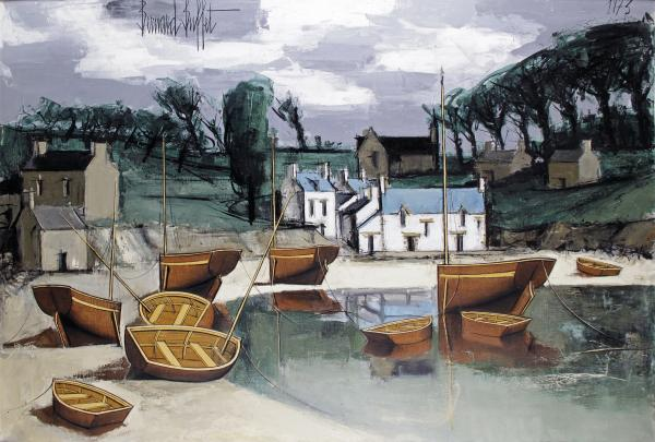 Bernard BUFFET – 1928-1999  - FINISTÈRE, LE PORT À MARÉE BASSE  - Huile sur [...]