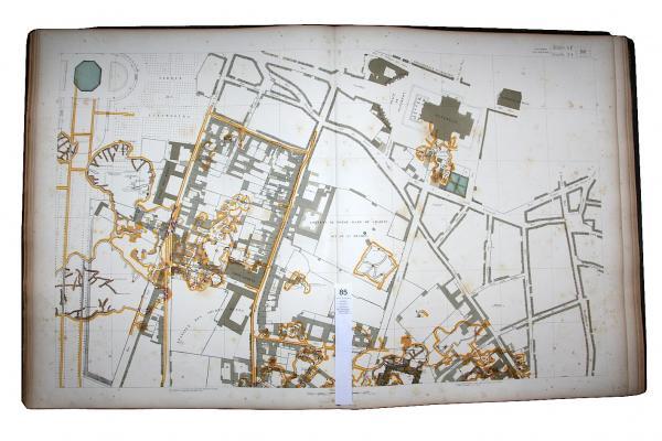 FOURCY, Eugène de & HAUSSMANN, Georges Eugène.  - - Atlas souterrain de la ville de[...]