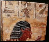 bas relief gyptien peint en calcaire egypte mis en. Black Bedroom Furniture Sets. Home Design Ideas