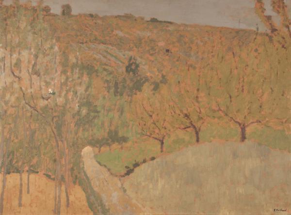 Edouard Vuillard  - Paysage, 1900  - Huile sur carton signé du cachet en bas à [...]