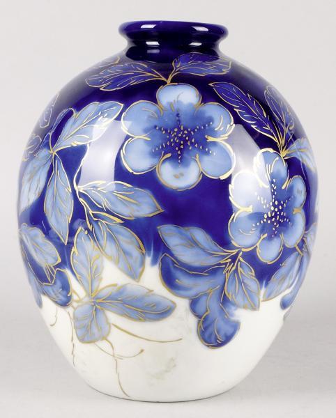 Camille THARAUD (1878-1956), Limoges  - VASE BOULE en porcelaine à décor émaillé [...]