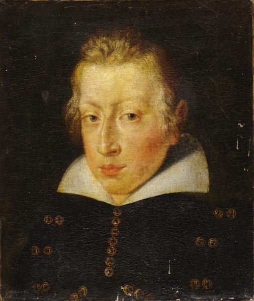 Ecole ESPAGNOLE du XVIIe siècle  - Portrait d'homme  - Huile sur toile  - H. 40 cm[...]