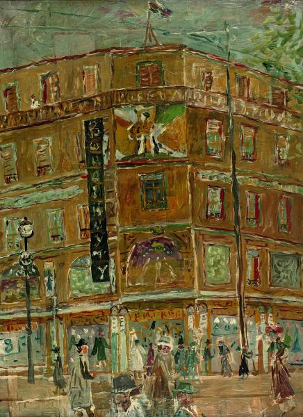 Jean POUGNY (1892-1956)  - Grand Magasin  - Huile sur toile  - 73 x 54 cm - 28 3/4 x[...]