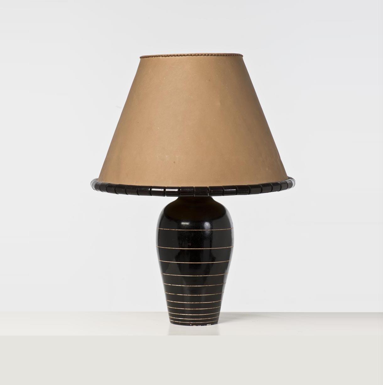 jacques adnet 1900 1984 pour la maison chaillou lampe pl tre laqu rhodo d mis en. Black Bedroom Furniture Sets. Home Design Ideas