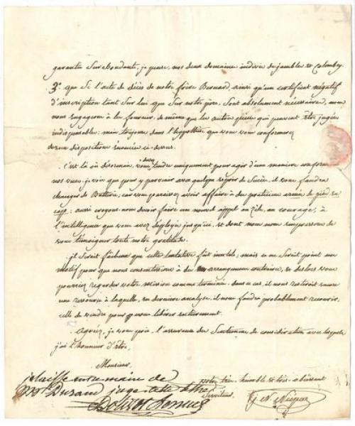 Joseph-Nicéphore Niépce (1765-1833) inventeur de la photographie.  - L.A.S., [...]