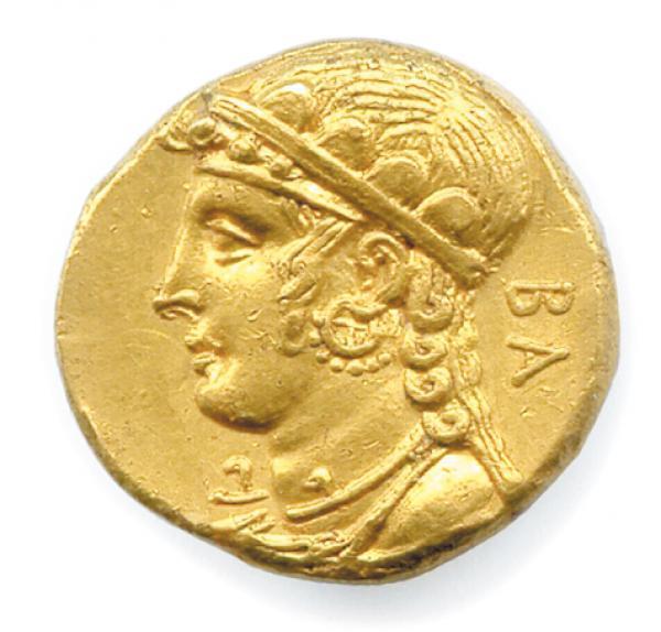 CHYPRE - SALAMIS - PNYTAGORAS Roi de Salamine 351-332 Buste drapé d'Aphrodite à[...]