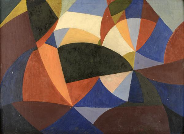PIERRE-LOUIS FLOUQUET (1900-1967)  - Une partie de cartes, 1920 Peinture sur carton[...]