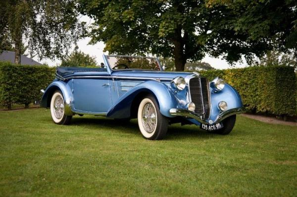 1939 DELAHAYE 135M CABRIOLET CHAPRON   - Châssis n° 60188   - Carte grise[...]