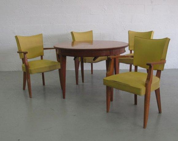 travail des ann es 50 mobilier de salle manger. Black Bedroom Furniture Sets. Home Design Ideas