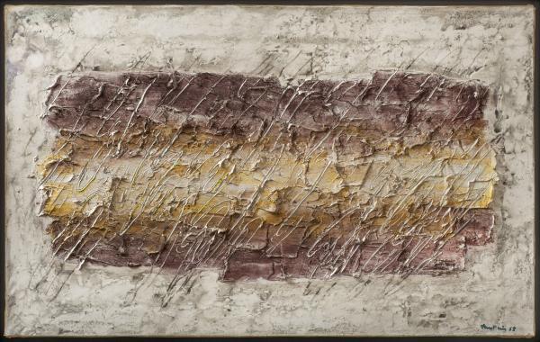 Jean FAUTRIER  - «LA CLAIRIERE», 1963  - Huile et pigments sur papier[...]