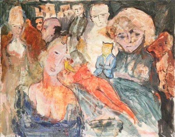 Zwy Milshtein (1934 -)  - La belle endormie, 1989  - Technique mixte sur toile.[...]