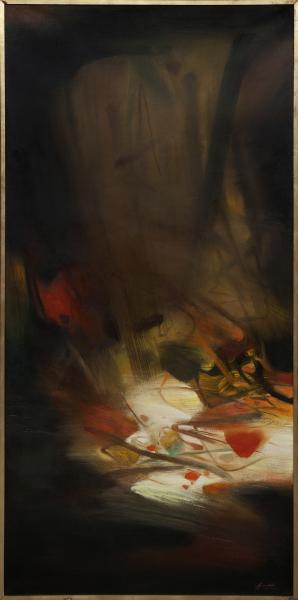 CHU Teh-Chun (1920-2014). L'automne, 78. Huile sur toile signée en bas à droite[...]