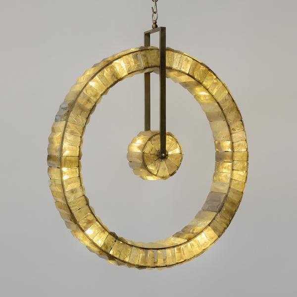 Régis Mathieu  - Orbite, Lustre, Bronze argenté[...]