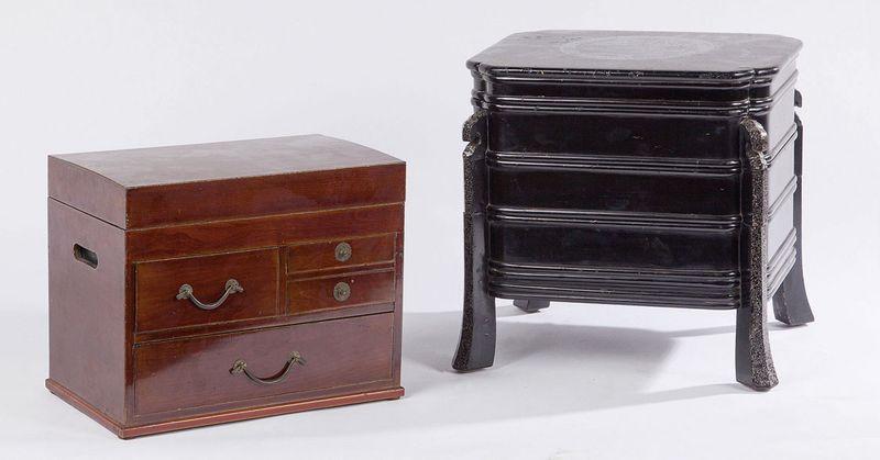 boite nourriture en bois laqu noir et coquille d uf art d 39 asie et art africain tradart. Black Bedroom Furniture Sets. Home Design Ideas