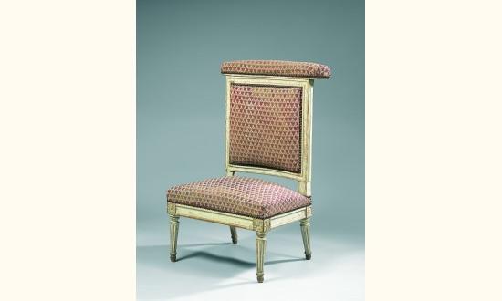 chaise voyeuse genoux en h tre moulur estampille de dupain et j m e arts d coratifs du xx. Black Bedroom Furniture Sets. Home Design Ideas