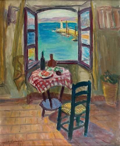 Charles camoin 1879 1965 fenetre ouverte sur le port for Agrandir fenetre windows