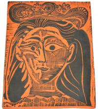 Pablo Picasso (1881-1973)  - Femme au chapeau fleuri...