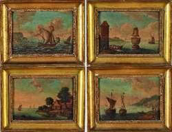 Ecole Flamande vers 1800 - «Marines»