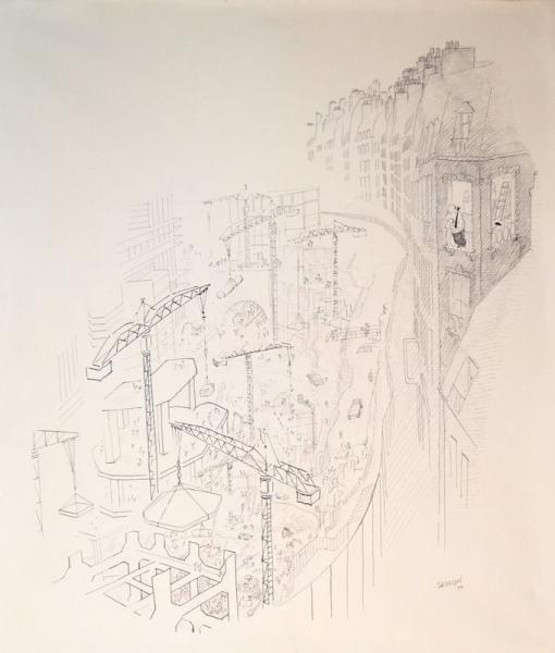 SEMPE Jean-Jacques  - Les Travaux des Halles  - Grande Illustration publiée à[...]
