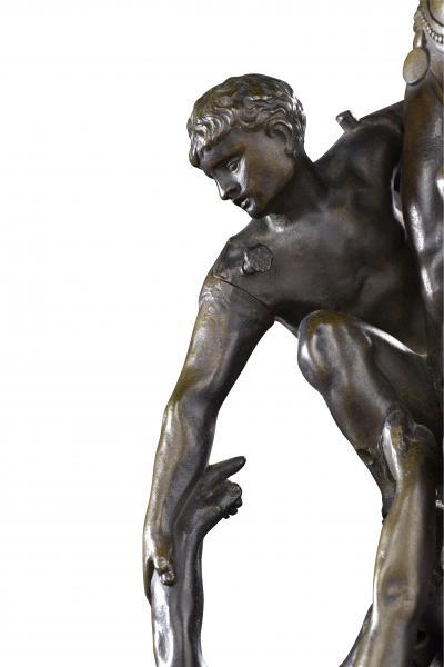 Gustave DORÉ (1832-1883)  - La Pyramide humaine ou Les Acrobates, 1880  - Bronze à [...]