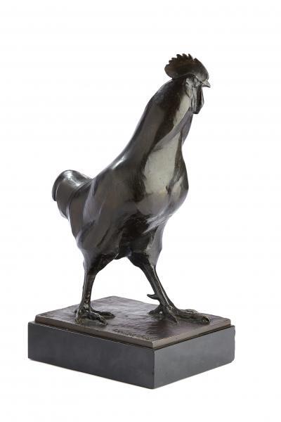 CHARLES ARTUS (1897-1978)  - Epreuve zoomorphe en bronze à patine brune figurant un[...]
