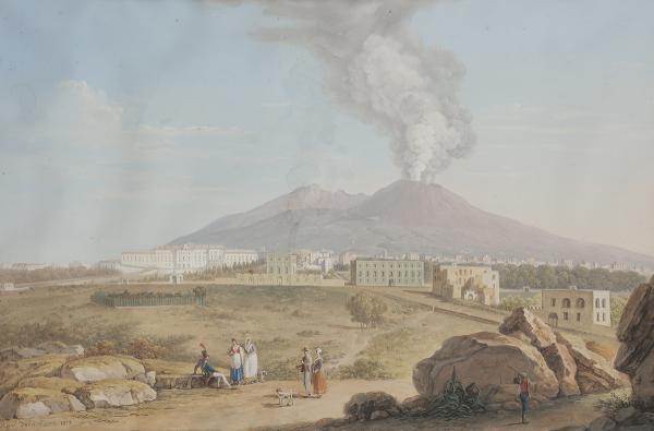 Xavier della GATTA (actif à Naples entre 1777-1829)  - Vue de Naples, 1813  - [...]
