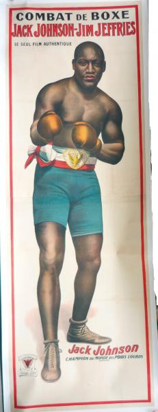 1910. Affiche. Lithographie géante du champion du Monde des poids lourds Jack[...]