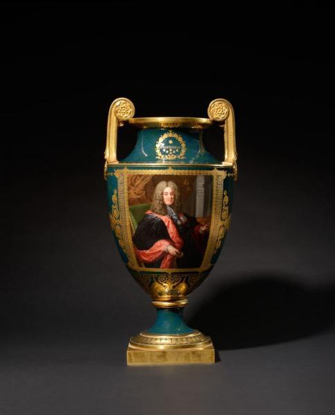 MANUFACTURE ROYALE DE SEVRES « Le chancelier d'Aguesseau » Vase « Clodion » en[...]