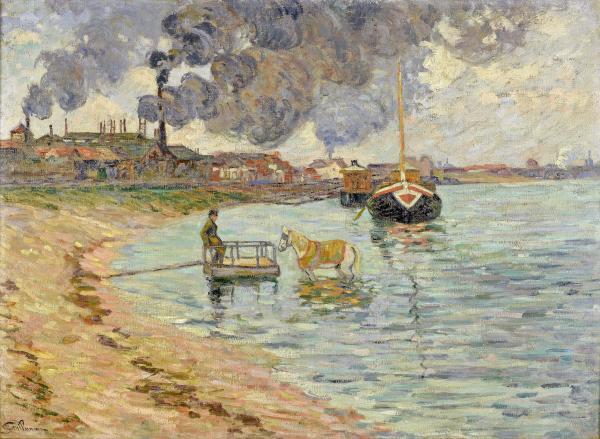 Armand GUILLAUMIN (1841-1927)  - Bords de Seine à Ivry, vers 1885  - Huile sur[...]