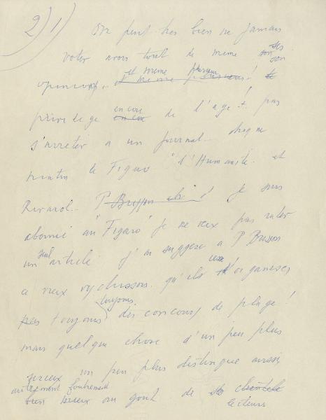 14 feuillets manuscrits de