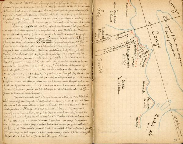 HANSSENS (Capitaine Edmond). « Voyages Haut Congo ». Manuscrit autographe[...]