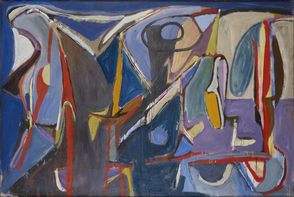 Bram VAN VELDE  - SANS TITRE, TARDAIS, 1959  - Huile sur toile  - 130×195 cm  -  [...]
