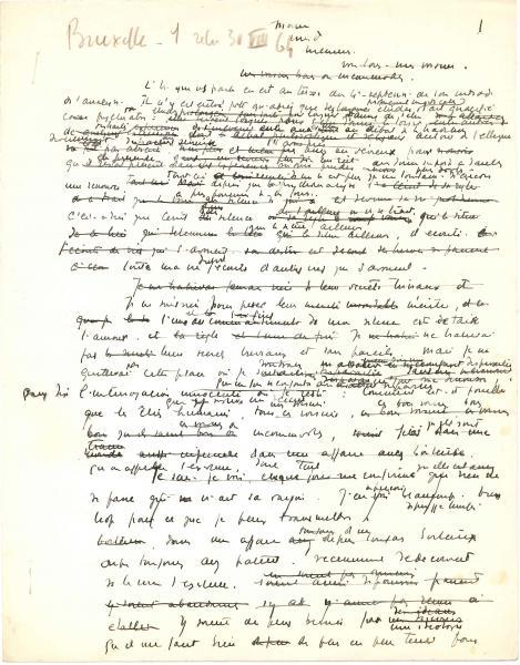 Jacques LACAN (1901-1981) psychiatre et psychanalyste. Manuscrit autographe,[...]