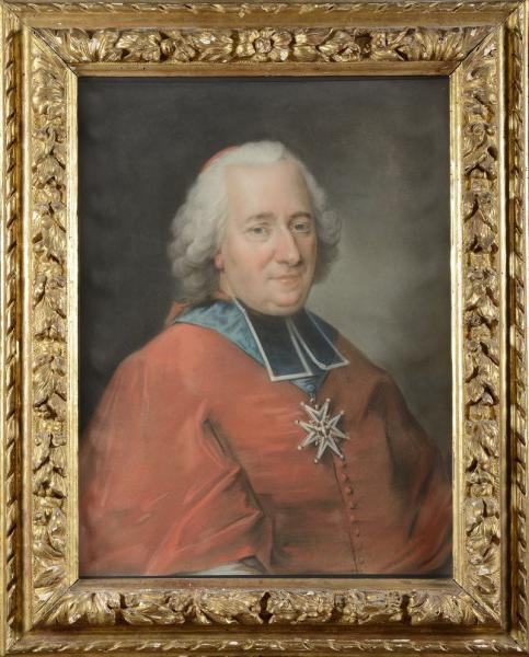 Claude MERCIER  (actif en France entre 1755 et 1762) Portrait présumé du Cardinal[...]
