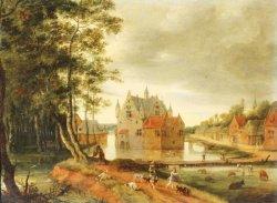 Attribué à I. Van OSTEN (1613-1661) - Le départ pour la chasse