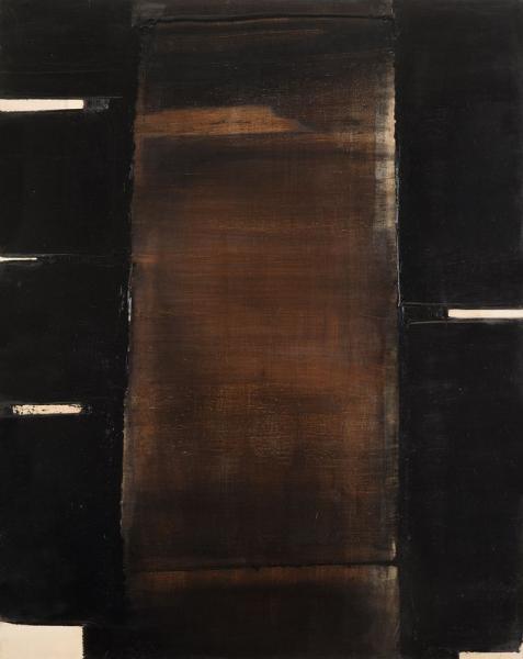 Pierre SOULAGES (né en 1919)  - Peinture 102x81 cm, 30 mai 1981, 1981  - Huile sur[...]