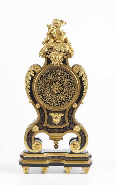 DASSON Henry (1825-1896) : IMPORTANT CARTEL de style Louis XIV en marqueterie boulle[...]