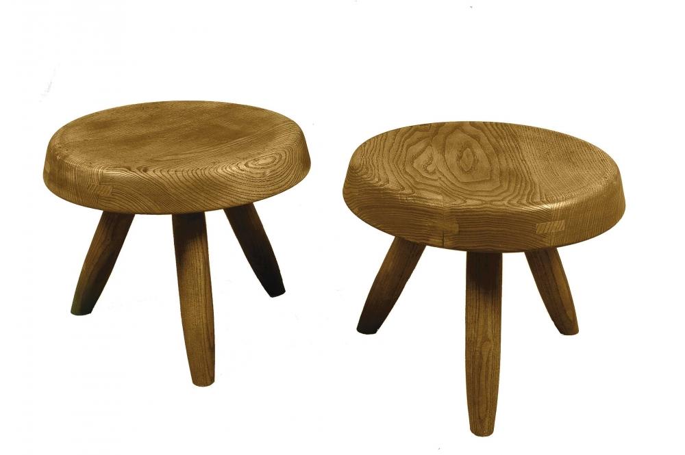 charlotte perriand 1903 1999 paire de tabourets mis. Black Bedroom Furniture Sets. Home Design Ideas