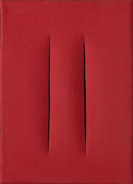 Lucio FONTANA  - « CONCETTO SPAZIALE », 1959  - (ATTESE)  - Peinture sur toile[...]
