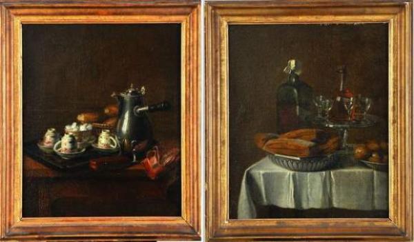 JEAURAT de BERTRY Nicolas-Henry - «Nature morte à la cafetière…