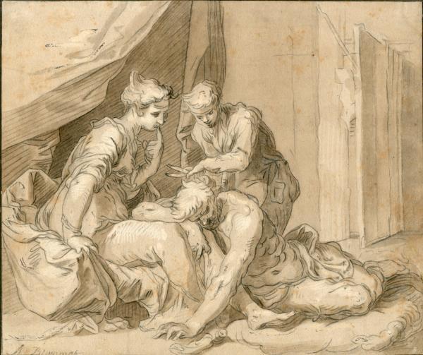 BLOEMAERT, Abraham (Gorinchem, c.1565-Utrecht, 1651).  - Samson et Dalila (Juges 16 [...]