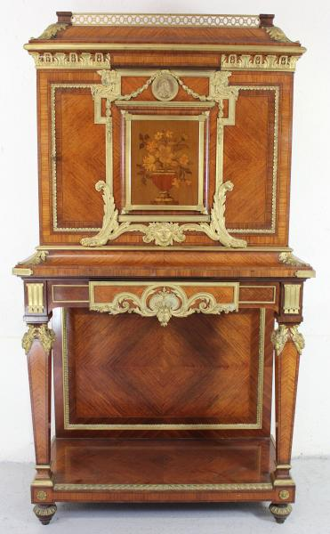 François LINKE (1855-1946) : important cabinet en pied, en bois de placages et[...]