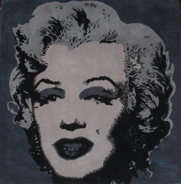Andy WARHOL  (1928-1987) (after) Marilyn Monroe Tapis en pure laine de[...]