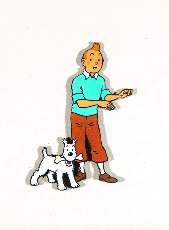 Tintin et milou dessin original d 39 herg herg bande - Image de tintin et milou ...