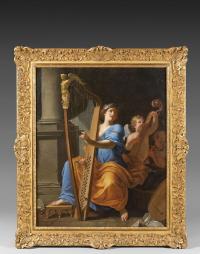 Jacques STELLA (Lyon 1596 - Paris 1657) - Sainte Cécile jouant la...